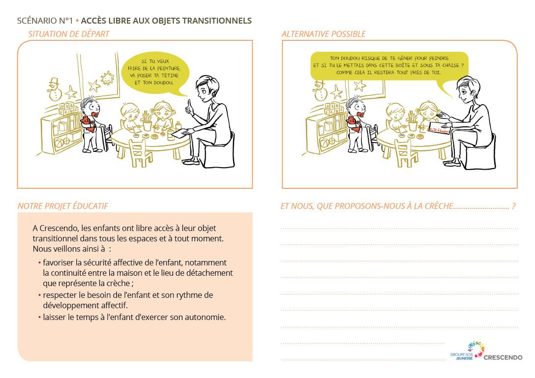 Favoriser les bonnes pratiques dans les crèches, avec les scénarios de la bientraitance